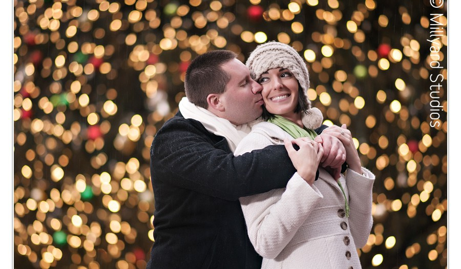 Engagement Photographer in New Hampshire/ Boston Winter Engagement Photography/ Millyard Studios