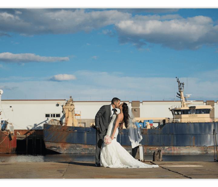 NH Wedding Photographer /  Millyard Studios / Cruiseport Gloucester / Janet & Mason