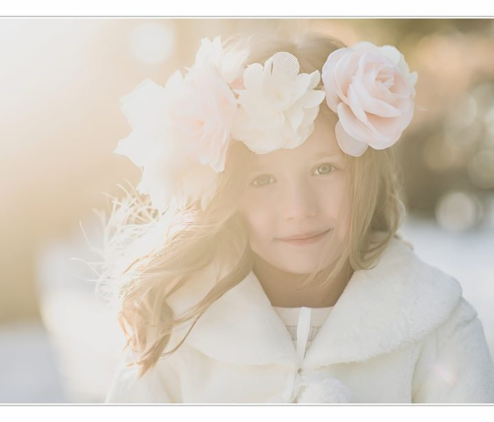 Children's Photographer/ Millyard Studios/ NH/ Winter Girl Session