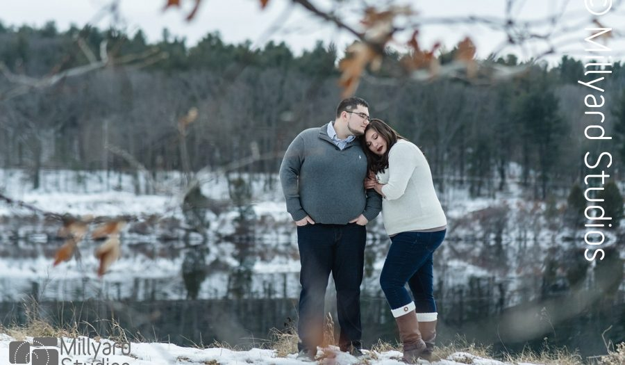 Winter Engagement Photos/ Millyard Studios / NH