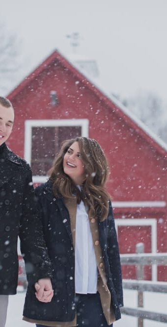 NH Engagement Photographer / Millyard Studios / Winter Engagement Photos / Kate and Parker