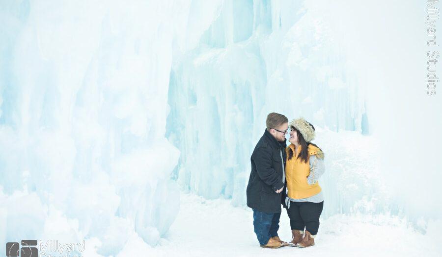 Engagement Photographer NH/ Millyard Studios/ Ice Castles