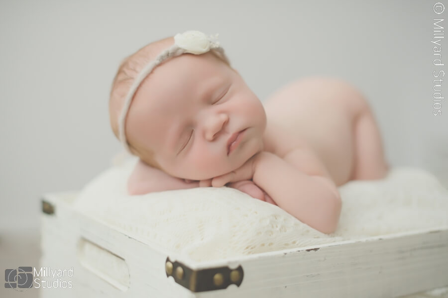 New hampshire newborn photographer grey cream pink newborn girl session such a beauty