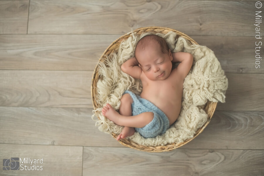 Baby boy newborn session tan white blue newborn photographer nh