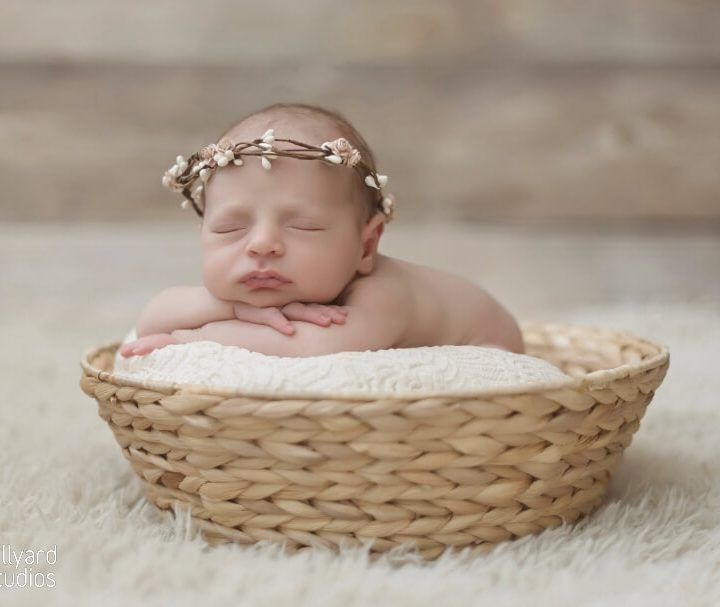 Newborn baby girl photographer nh
