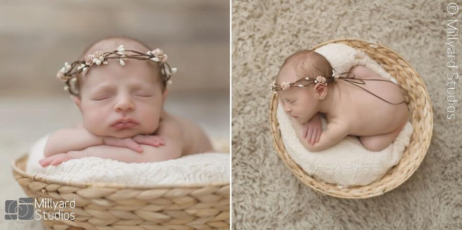 Newborn baby girl photographer nh