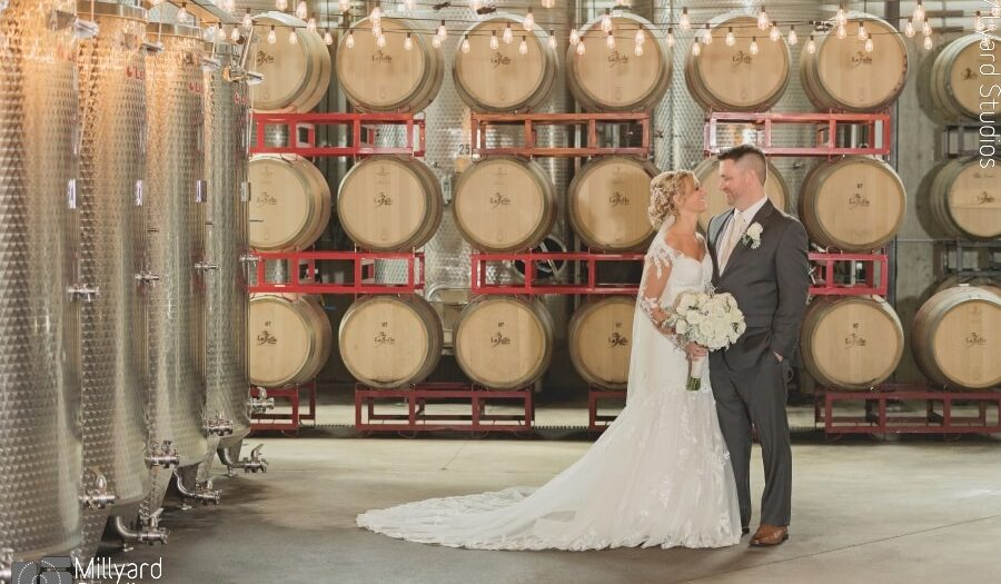 NH Wedding Photographer / Millyard Studios / LaBelle Winery / Kristina & Ed