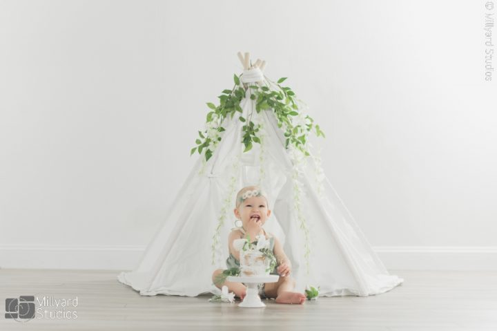NH Baby Photographer / One Year Session / Millyard Studios
