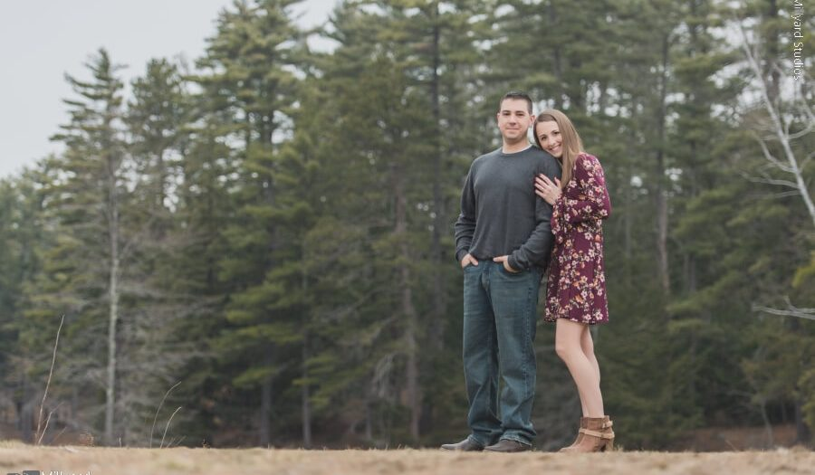 NH Engagement Session / Millyard Studios / Amanda & Joshua