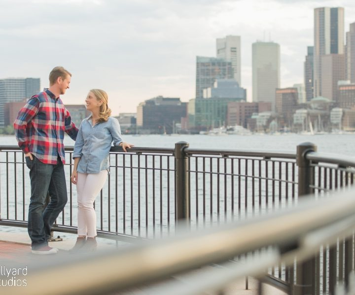 Boston Engagement Session Millyard Studios