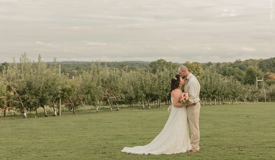 MA Wedding Photographer / Millyard Studios /  Brittany & Clay / Hyland Orchard