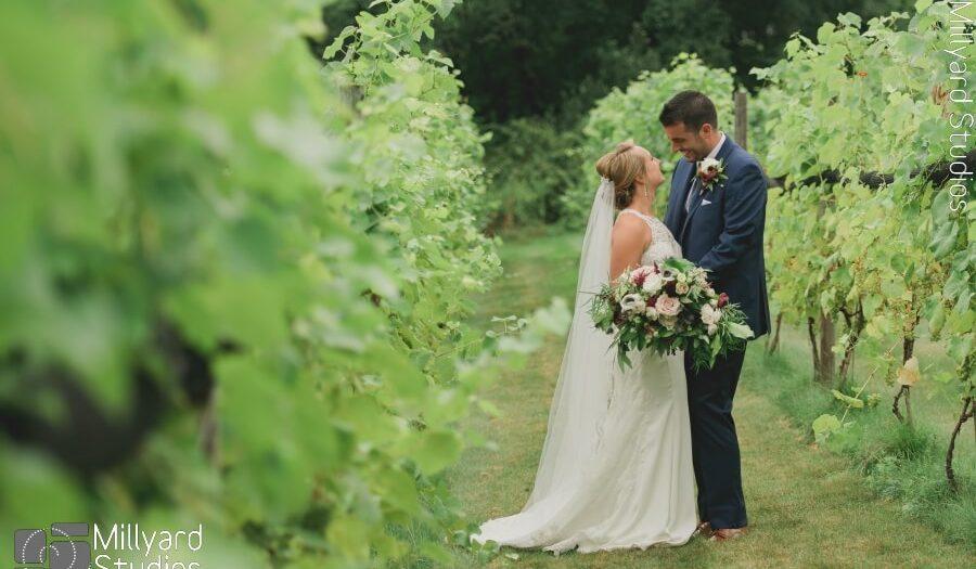 NH Wedding Photographer / Millyard Studios / LaBelle Winery / Megan & Christian