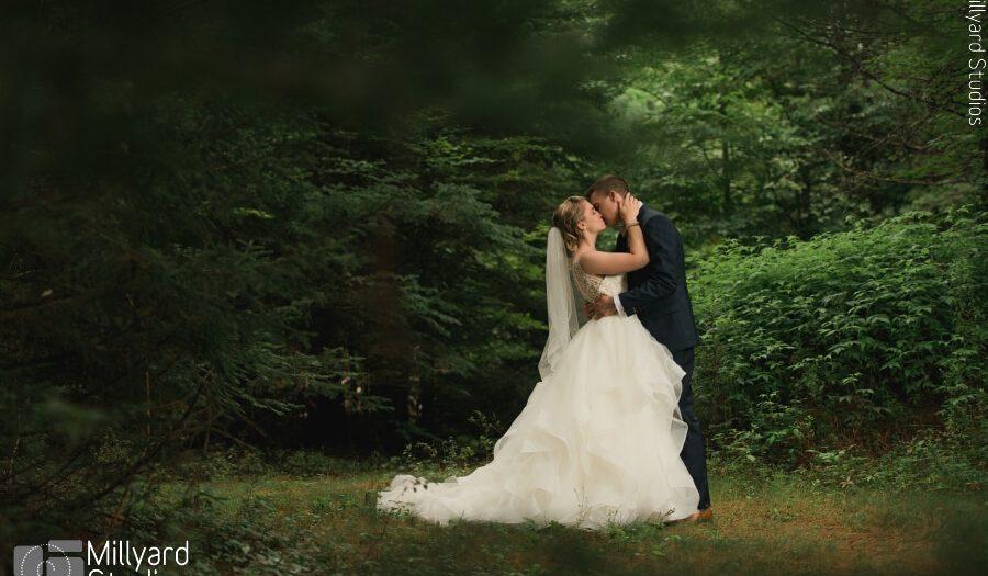 NH Wedding Photographer / Millyard Studios / Intimate Backyard Wedding / Katelyn & Sam