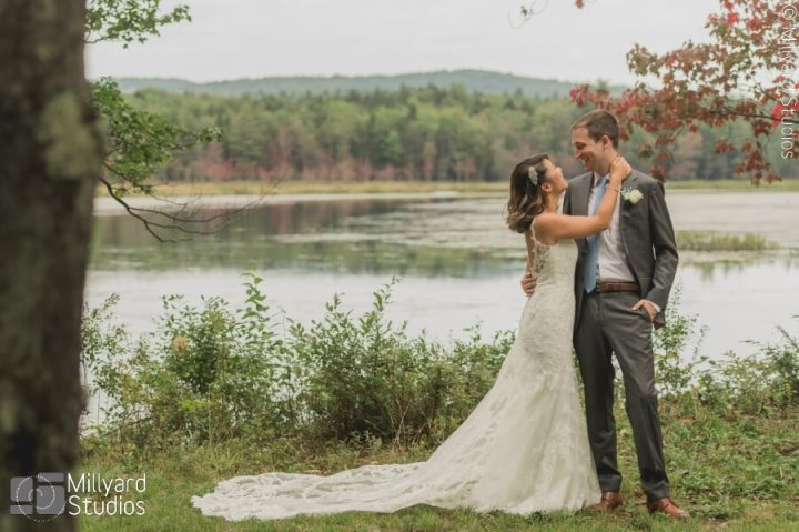 NH Wedding Photographer / Millyard Studios / Lakefalls Lodge / Shansi & Brian