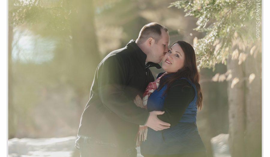 Photographer/ Millyard Studios/ Winter Engagement Photos/ New Hampshire