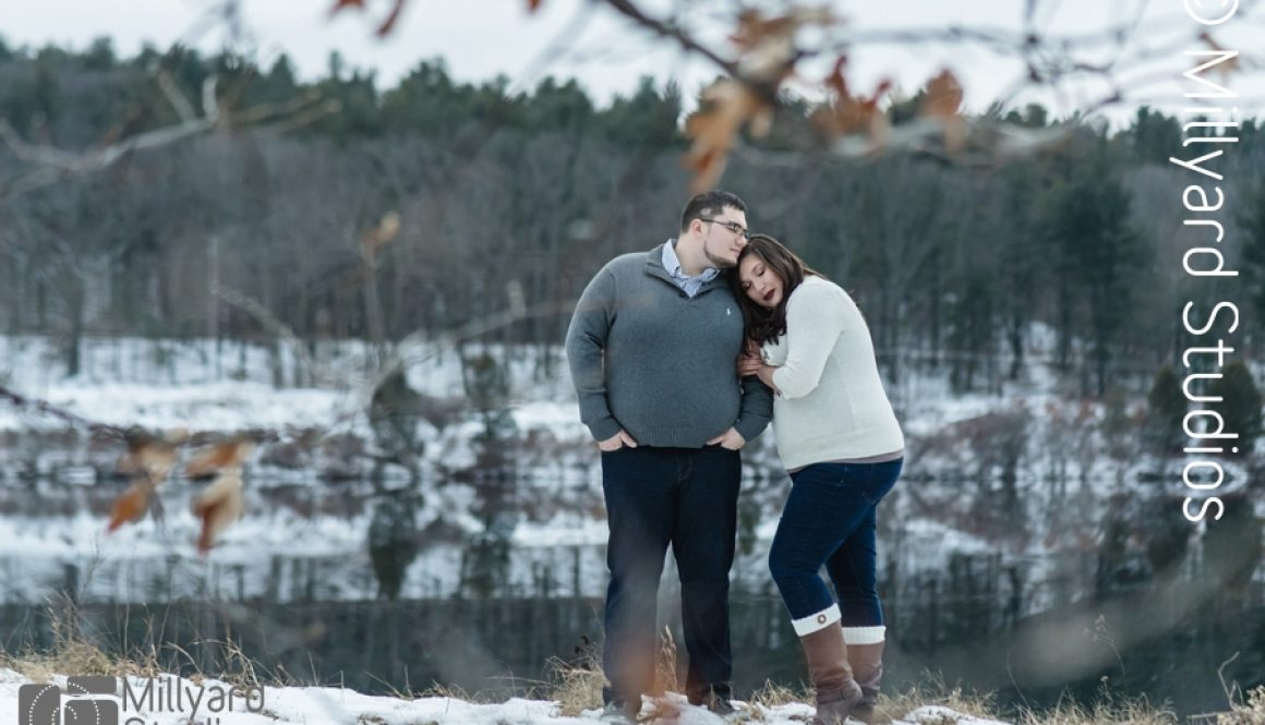 Winter Engagement Photos by Millyard Studios NH 3