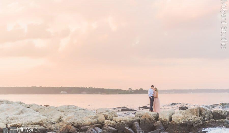 Sunset Engagement Photos NH