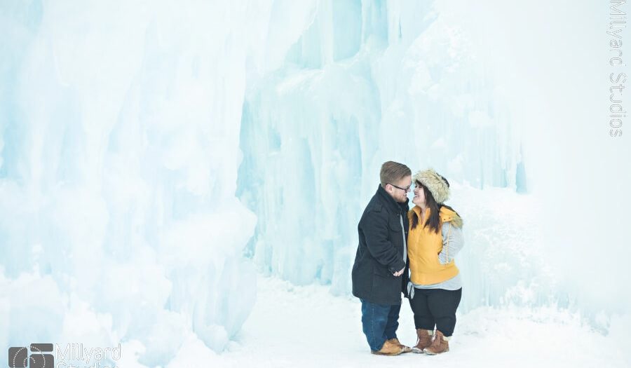 Engagement Photographer NH/ Millyard Studios/ Ice Castles