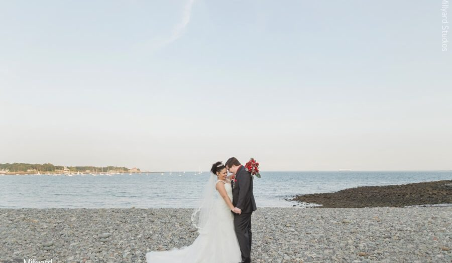 New England Beach Wedding Nh Photographer Millyard Studios The Oceanview Laura Ian