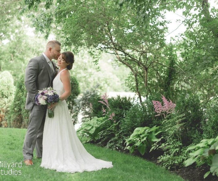 NH Wedding Photographer / Millyard Studios / Intimate Backyard Wedding / April & Patrick