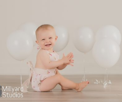 One Year Birthday Session Millyard Studios 20