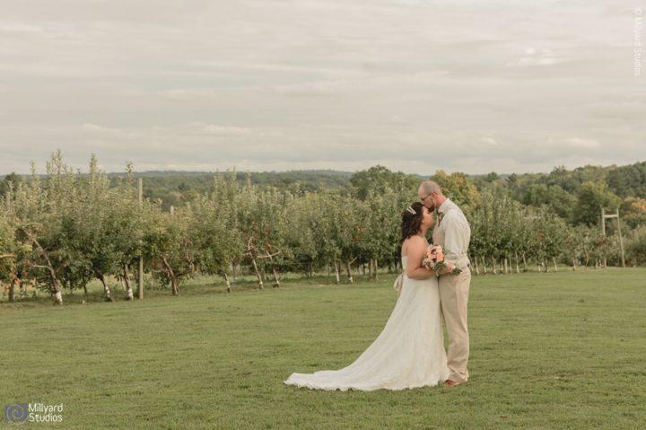 MA Wedding Photographer / Millyard Studios /  Brittany & Clay / Hyland Orchard