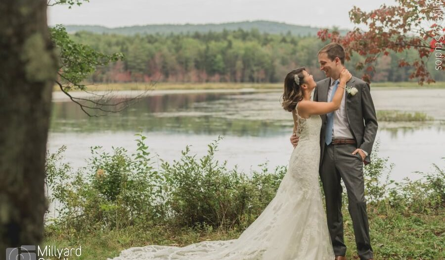NH Wedding Photographer / Millyard Studios / Lakefalls Lodge / Shansi & Brian