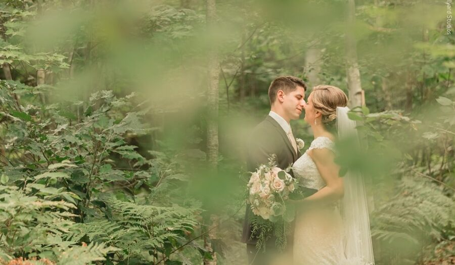 NH White Mountains Backyard Wedding / Millyard Studios / Dana & Josh