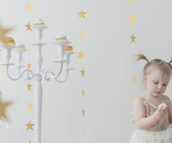 Two Year Birthday Photo Session/ Styled Shoot to the Stars!!!/ Millyard Studios