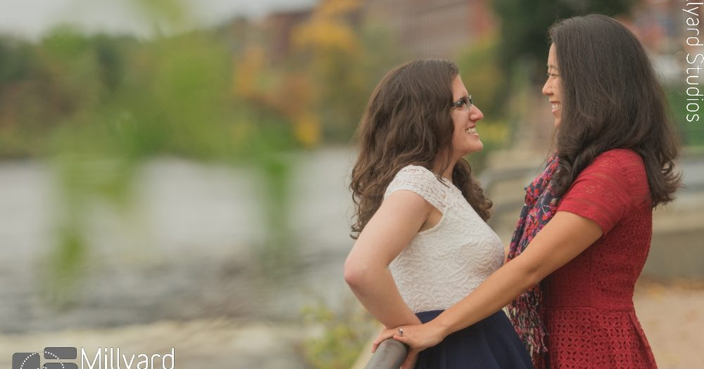 NH Engagement Photographer / Millyard Studios / Jessica & Sarah