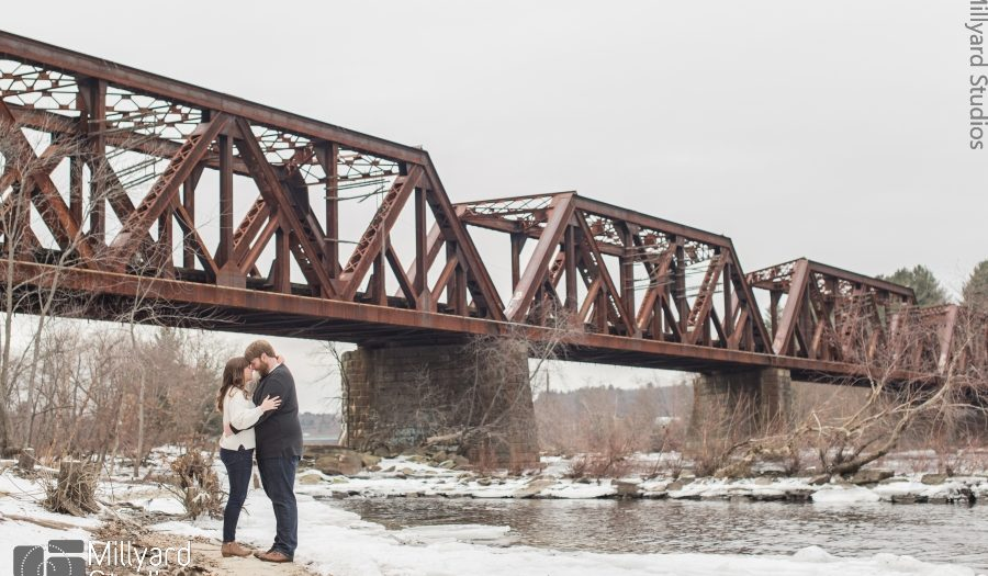 NH Engagement Photographer / Millyard Studios / Brittany & John