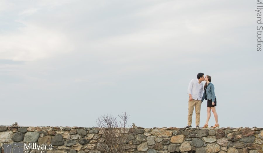NH Engagement Photographer / Millyard Studios / Beach Engagement Session