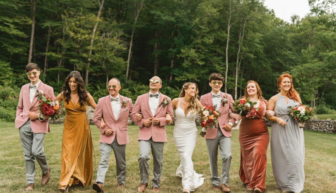 NH Wedding Photographer Millyard Studios Lakefalls Lodge Boho Wedding 70's Inspired wedding Colorful wedding 36